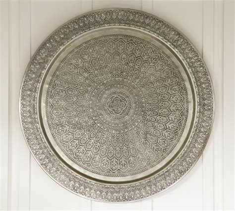 decorative metal disc silver pottery barn
