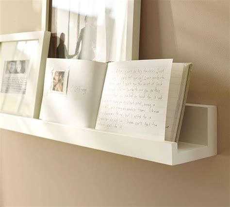 pottery barn decorative wall shelves holman ledge unfinished contemporary display and wall