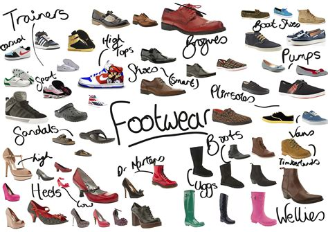 All Different Kinds Of Footwear