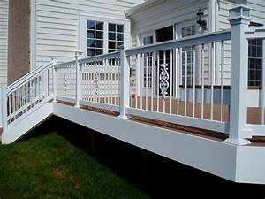 vinyl railing vinyl deck railings creative vinyl With 4 creative porch railing ideas for your house