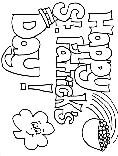 st patricks day coloring sheets happy st s day coloring page