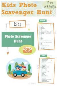 Kids Travel Scavenger Hunt Printable
