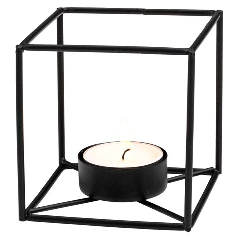 tealight holder elvig w8xl8xh8cm black jysk