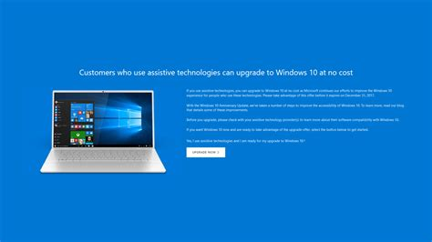 microsoft ends free windows 10 upgrade for customers who use assistive technologies prime