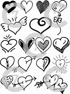 Flying Wings Designs Heart Shape Vector Art Pack Set Of 17 Hand Drawn
