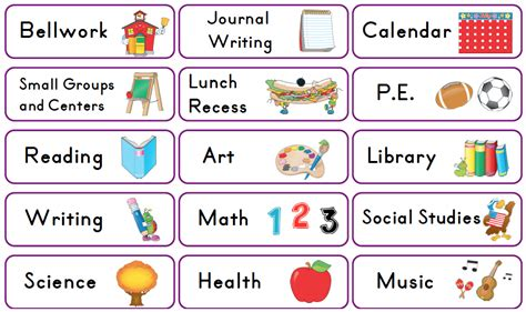 schedule clipart free classroom picture schedule clipart clipground