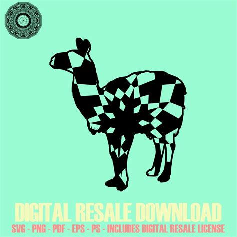 Click here and download the llama mandala svg graphic · window, mac, linux · last updated 2020 · commercial licence included ✓. Llama Mandala Winter Edition SVG Digital Image Sell ...