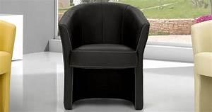 Fauteuil Crapaud Cuir : petit fauteuil alba cuir ou microfibre ~ Teatrodelosmanantiales.com Idées de Décoration