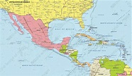 Political Digital Map Central America 630 | The World of ...