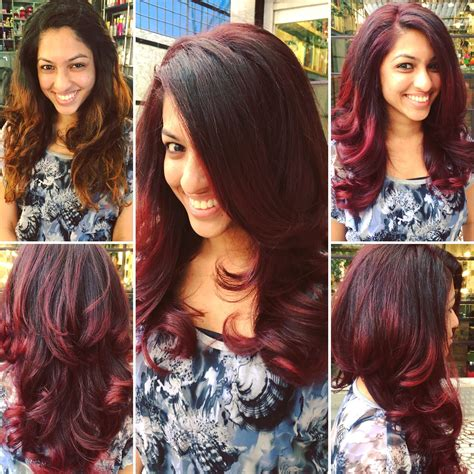 global color before and after two toned global hair colour
