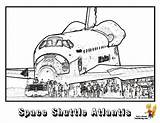 Coloring Space Shuttle Spaceship Colouring Nasa Atlantis Sheet Yescoloring Spectacular sketch template