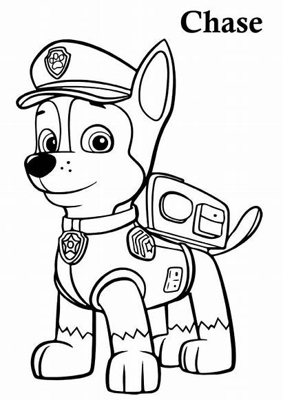 Paw Patrol Coloring Pages Chase Printable Pdf
