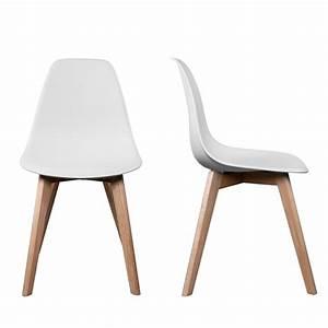 Chaise à Bascule Pas Cher : chaise cuisine blanche et bois ~ Teatrodelosmanantiales.com Idées de Décoration
