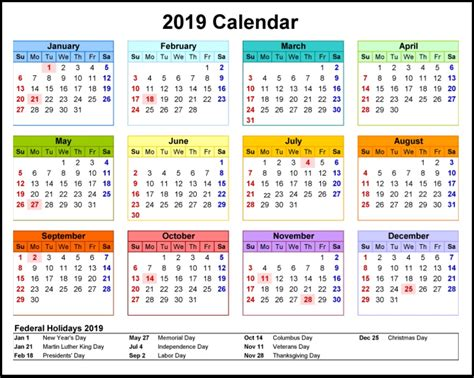 2019 Printable Calendar | Latest Calendar