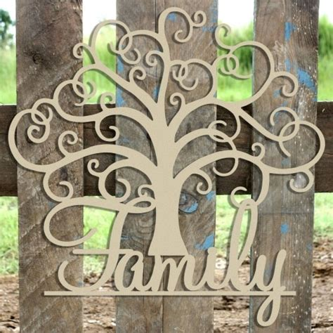 family tree unfinished cutout wooden shape mdf diy