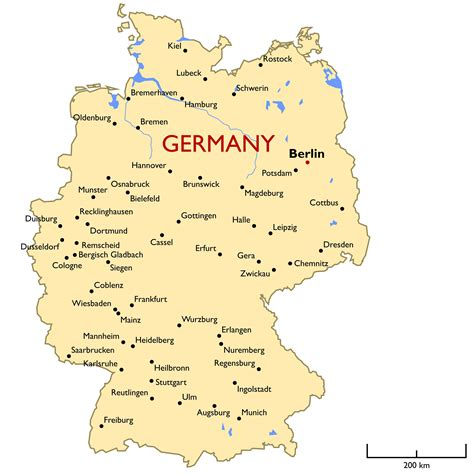 Germany Map Guide Of The World