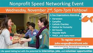 Students Encouraged to Attend Non-Profit Speed Networking ...