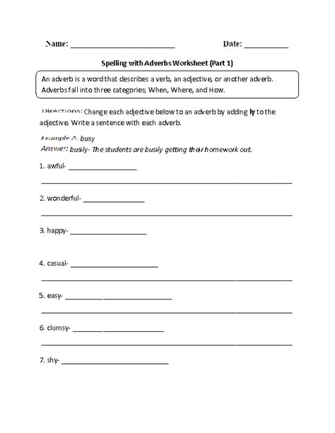Proper Spelling Of Resume by Spelling With Adverbs Worksheets Adverbs Worksheets
