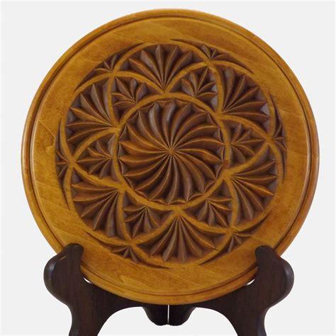 circles  fans chip carved decorative plate decorative