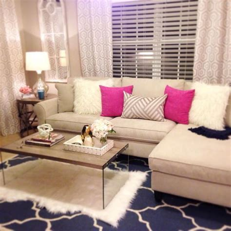 Girly Living Room by Living Room I Like The Pink Accent Pillows Girly Home