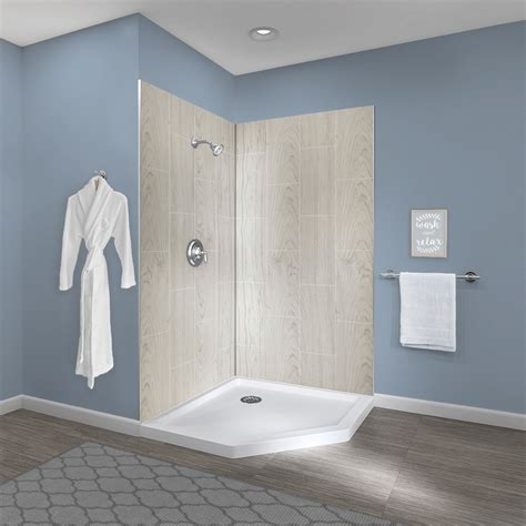 Bathroom Shower Walls - jetcoat 174 42 x 42 two panel shower wall system foremost
