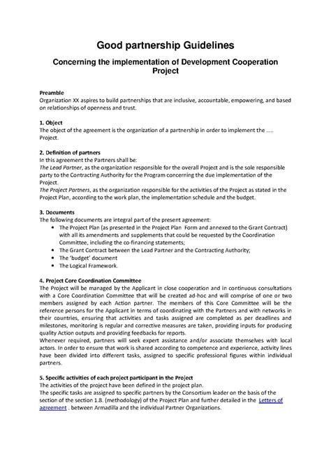 filepartnership agreement guidelinespdf wikimedia commons