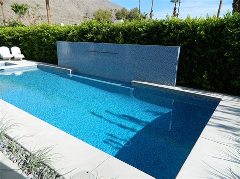 south palm springs pool spa remodel water feature wall