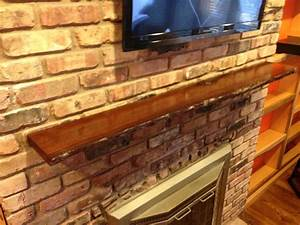Hand Crafted Live Edge Slab Fireplace Mantel by MAD Custom