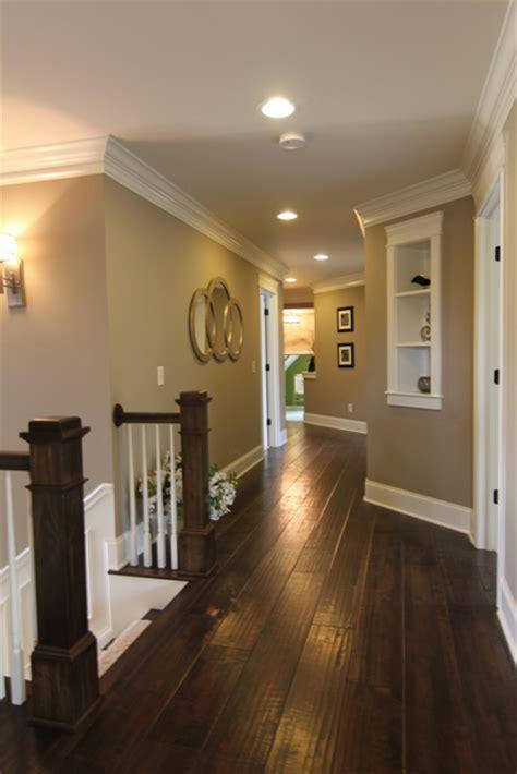 dark floors white trim warm walls love  dark wood