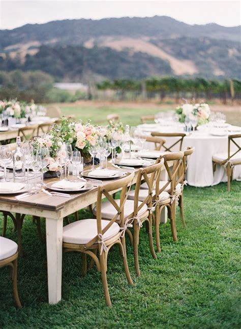 wedding tables and chairs pink peach vineyard wedding vineyard wedding and