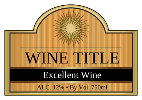 solar fire wine bottle label templates ol