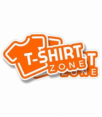 Die Cut Stickers Shirt Zone