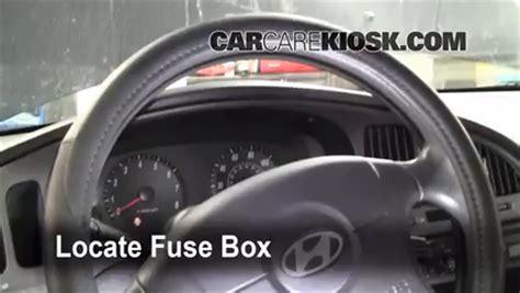 interior fuse box location   hyundai elantra  hyundai elantra gls   cyl