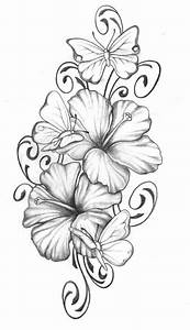 Hibiscus with butterfly | tats | Pinterest | Hibiscus ...