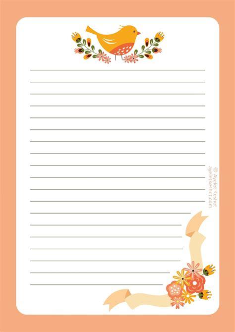 printable letter paper journals notebks plnrs
