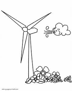 Download Wind Turbine Coloring For Free