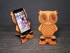 Cute Wooden Owl Phone Stand - Universal from PhoneTastique on