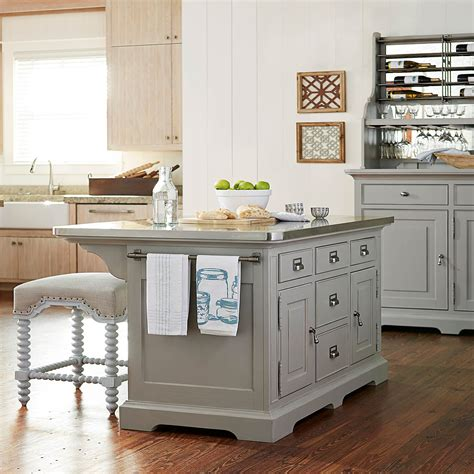 kitchen island for paula deen the dogwood grey kitchen island 599644 bellacor