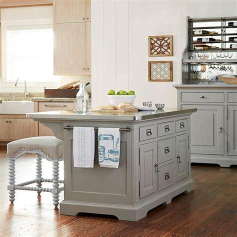 Paula Deen The Dogwood Grey Kitchen Island 599644   Bellacor