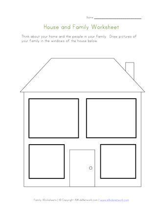house  family worksheet  images family