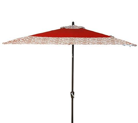 atleisure square crank tilt patio umbrella with