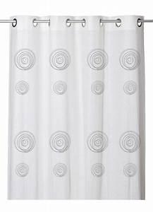 Voilage Lin Blanc : voilage effet etamine de lin imprim s spirales blanc homemaison vente en ligne tous les ~ Teatrodelosmanantiales.com Idées de Décoration