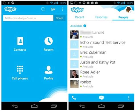 skype app android how to call phones from your android tablet