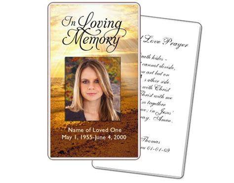 prayer cards shine prayer card templates funeral
