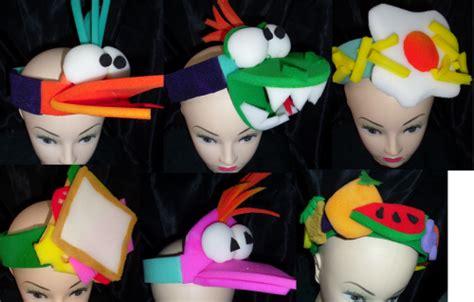 gorros sombreros diademas cotillon goma espuma car interior design