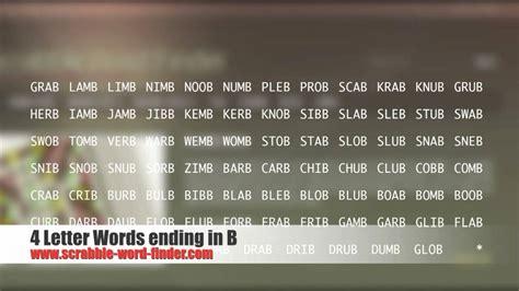 4 letter words ending in k 4 letter words ending in b 46445