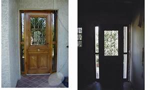 Porte d39entree porte 1900 avec grille en fonte porte a for Grille porte entrée