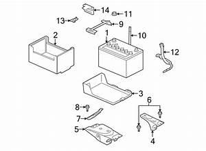 Mitsubishi Outlander Battery  Bracket  Wiring  Tray  3 0