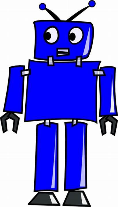Robot Clip Clker Clipart Cliparts Vector