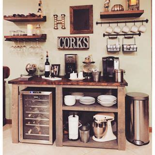 At the center, the bar completes the design. DIY Coffee/WIne Bar, YES!   Dining Room Tutorials